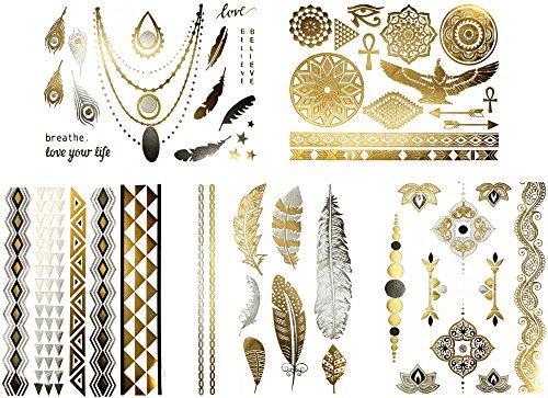beautiful-metallic-tattoos-over-50-stylish-designs-silver-black-and-gold-temporary-metallic-tattoos-