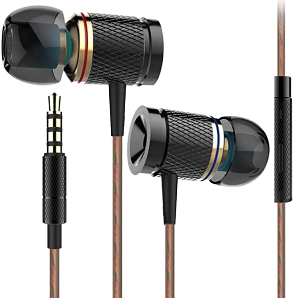 Earphones Headphones Ofuca X53 Noise Isolating in-Ear Earbuds with Pure Sound and Rich Bass Compatible with Smartphone, MP3/MP4 Player Tablet and All