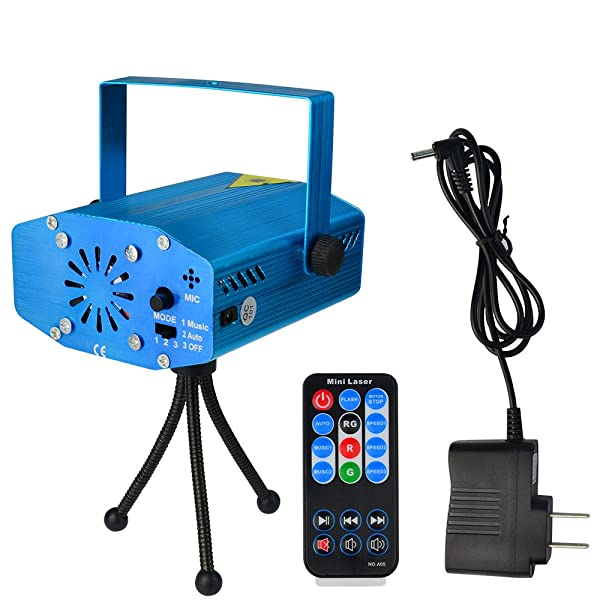 SUMERSHA LED Laser Lights Sound Activated Disco DJ Party ... on