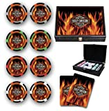 Harley Davidson Flame Poker Chips Set of 200 NEW