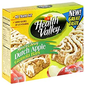 Health Valley Granola Bars, Chewy Dutch Apple, 6.1-Ounce Boxes (Pack of 6)