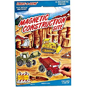 Create-A-Scene Magnetic Playset: Construction Site