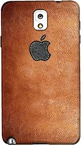 DailyObjects Apple in Leather Print Case For Samsung Galaxy Note 3