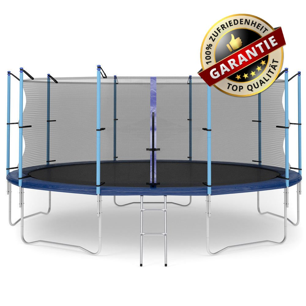 Hop-Sport Gartentrampolin 490 cm Komplettset mit Sicherheitsnetz und Leiter Innennetz jetzt bestellen