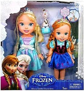 Amazon.com: Disney Frozen Deluxe Toddler Elsa and Anna Dolls: Toys