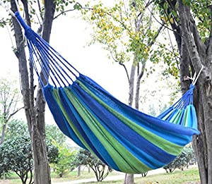 Goodboys,thicken Canva Hammock Swing Hang Sleeping Bed Outdoor Camp Travel Beach(pure and Fresh and Green)