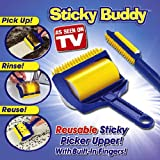 Sticky Buddy Reusable Sticky Picker Cleaner Lint Roller Pet Hair Remover Brush