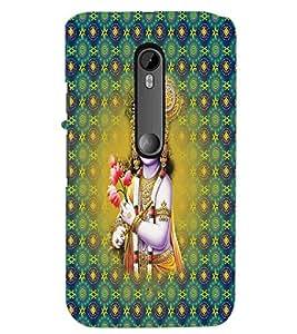 PrintDhaba Lord Krishna D-2665 Back Case Cover for MOTOROLA MOTO G3 (Multi-Coloured)