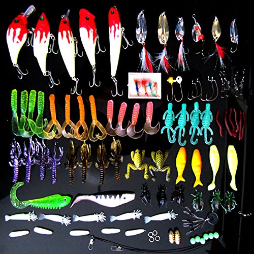 buy Fishing Lure Set Kit,LifeVC Soft And Hard Lure Baits Tackle Set Saltwater Freshwater Trout Bass Salmon With Tackle Box for sale