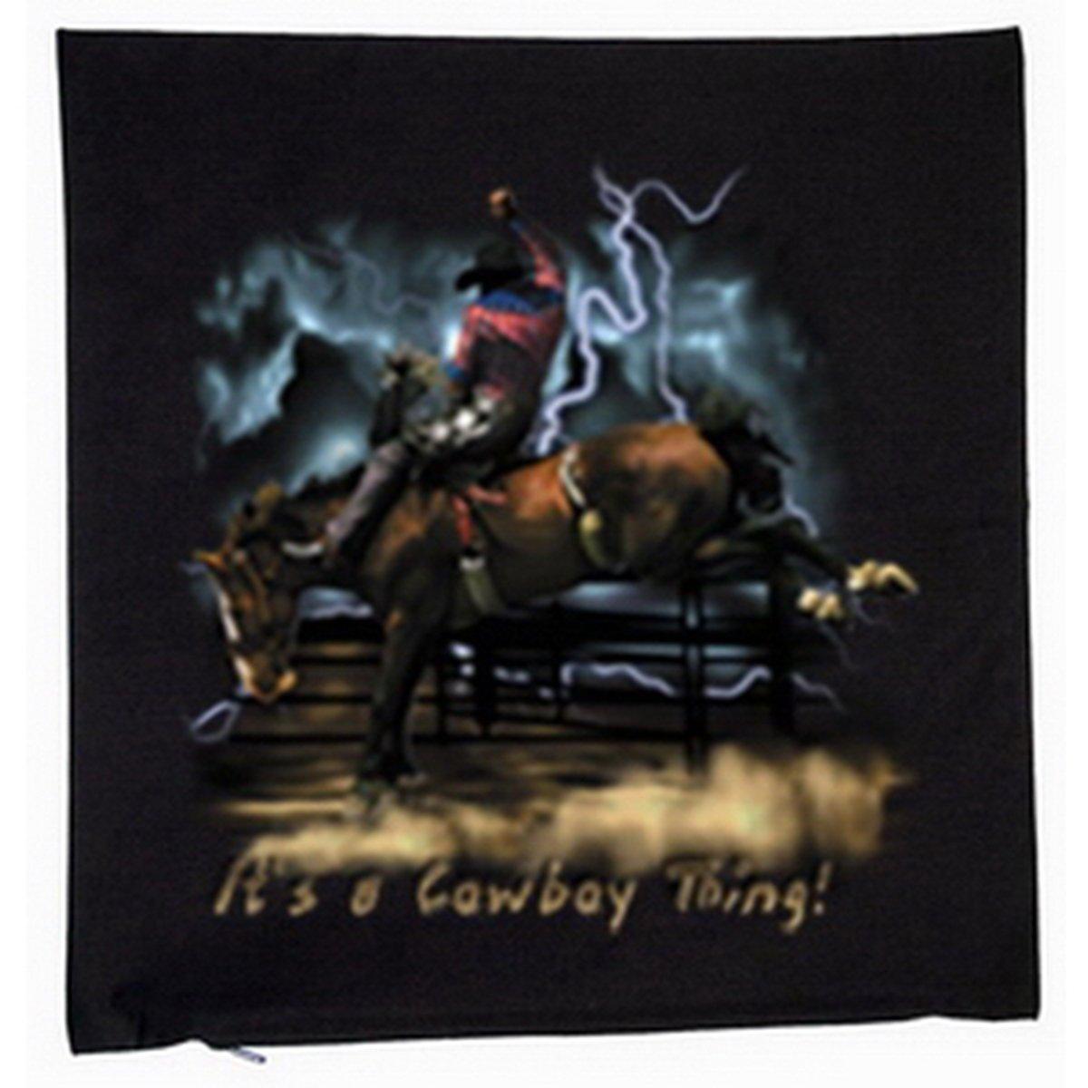 Cowboy Rodeo Deko Kissen mit Füllung Farbe: schwarz Größe: 40x40cm günstig online kaufen