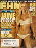 JAIME PRESSLY FHM OCTOBER 2005 INSIDE NASCAR UNIVISION'S SEXIEST WOMEN AND MORE!