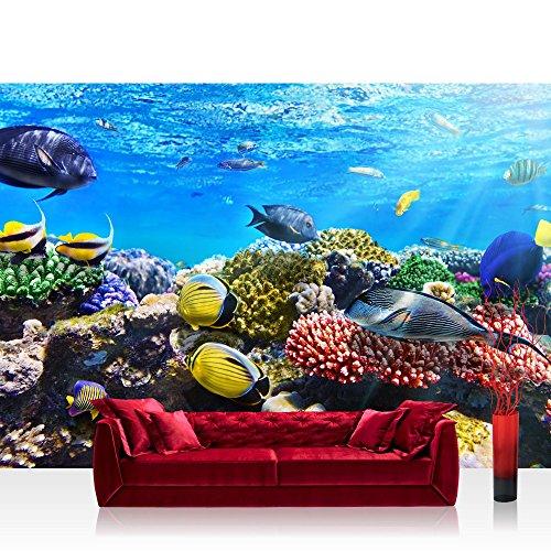 Vlies-Fototapete-400x280-cm-PREMIUM-PLUS-Wand-Foto-Tapete-Wand-Bild-Vliestapete-UNDERWATER-REEF-Aquarium-Korallen-Unterwasser-Meer-Fische-Riff-Korallenriff-no-105