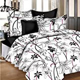 Ahmedabad Cotton Aspire Cotton Sateen Double Bedsheet With 2 Pillow Covers , Multicolor
