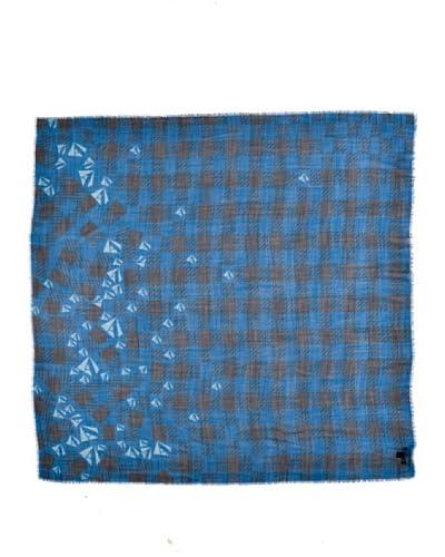 Aquascutum Scialle 140X140 Nero/Blu