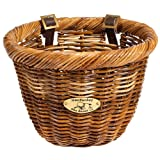Nantucket Bike Basket CompanyCisco Collection Oval Bicycle Basket (Tan, 14 X 11 X 9.5)