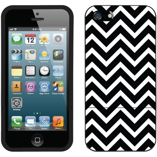 Special Sale Black and White Chevron design on a Black iPhone 5s / 5 Slider Case by Coveroo