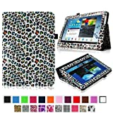 Fintie Slim Fit Folio Case Cover for Samsung Galaxy Note 10.1 inch Tablet N8000 N8010 N8013 - Leopard Rainbow