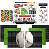 Scrapbook Customs Themed Paper and Stickers Scrapbook Kit, Go Big Baseball