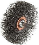 Weiler Narrow Face Wire Wheel Conflex Brush, Round Shank, Steel, Crimped Wire