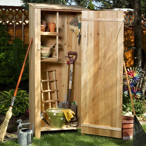 Patio storage shed vertical