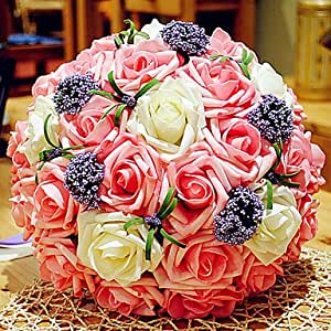beautiful korean style 30 flowers wedding bouquet. Black Bedroom Furniture Sets. Home Design Ideas