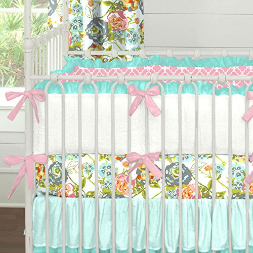 Pink And Teal Baby Bedding 5944 front
