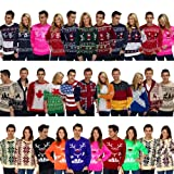 Mens Womens Novelty Jumper Sweater Retro Christmas Xmas Novelty Winter Fairisle