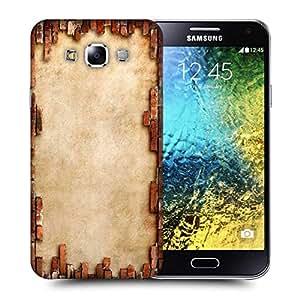 Snoogg Broken Wall Design Printed Protective Phone Back Case Cover ForSamsung Galaxy E5