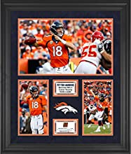 "Peyton Manning Denver Broncos Framed 20"" x 24"" NFL All-Time Passing Record Collage with a Piece of Game-Used Ball - Limited Edition of 100 - Fanatics Authentic Certified"