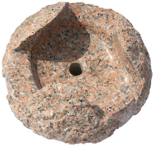 Nva Creative Garden Granite 6688051 20-Inch Nandina Fountain Stone, Orange/Red front-703339