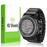 Garmin Fenix 3 Screen Protector, IQ Shield LiQuidSkin (6-Pack) Full Coverage Screen Protector for Garmin Fenix 3 HD Clear Anti-Bubble Film - with (Color: Clear Screen)