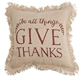 Mud Pie 4265153G Give Thanks Burlap Pillow