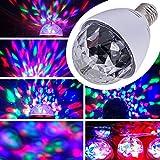 E27 3W LED RGB Lichteffekt Licht Lasereffekt Projektor Kristall Magic Ball Effect Licht Drehen Automatisch für Weihnachtsparty Disco Party Klub Club