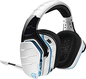Logitech G933 Artemis Spectrum Snow Wireless 7.1 Gaming Headset, White (Renewed) (Color: White)