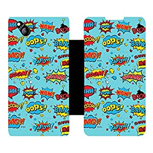 Phone Candy Designer Flip Cover with hi-res printed Vinyl sticker wrap-around for Micromax Canvas Bolt D303