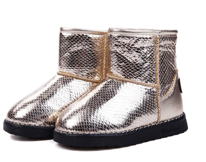 Kinder Winter warm Anti-Rutsch PU Stiefel snow boots/Schneestiefel Kinder-Schneeschuhe Jungen Stiefel Mädchenbaumwollstiefel Kinder warmen stiefel Fashion Kinder Schuhe kaufen