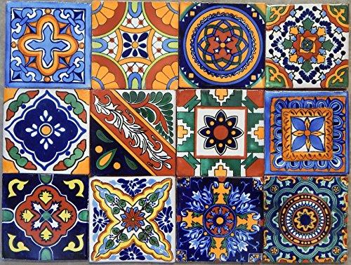 40 Mexican Talavera Tiles Han Painted 6