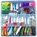Eu Promise Fishing Lures Lots for Freshwater Saltwater ,Bass Trout Superfrog Colorful Crankbait Kit Sets?Include Vivid Spinner Baits,Topwater Frog Lures,Crankbaits Lures,Spoon Lures,and More) by Eu Promise
