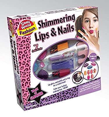 Shimmering Lips & Nail Accessories With Makeup Bag especially for Age 8+ Girls