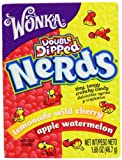 #5: Wonka Nerds Apple Coated Watermelon and Wildcherry 46.7 g (Pack of 9)