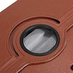 Galaxy Note 10.1 SM-P600 Case, Stand Flip Cover 360 Degree Series PU Leather Premium 360 Degree Rotating Stand Flip Cover With auto wake sleep (Brown)