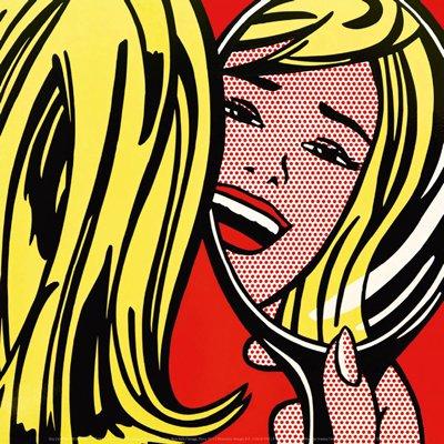 ロイ・リキテンスタイン Roy Lichtenstein: Girl in Mirror, 1963 アートポスター