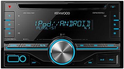 JVC Kenwood DPX206U Autoradio CD USB avec Bluetooth Noir