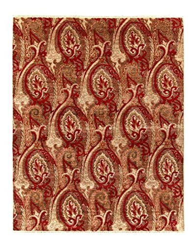 nuLOOM One-of-a-Kind Hand-Knotted Ikat Rug, Raspberry, 8' x 10'
