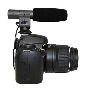 Polaroid Pro Video Condenser Shotgun Microphone For The
