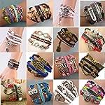 Multilayer Braided Vintage Bracelets...