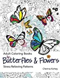img - for Adult Coloring Book: Butterflies and Flowers : Stress Relieving Patterns (Volume 7) book / textbook / text book