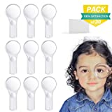 Acrylic Magnifier 5X Magnifying Lens Kids Handheld Plastic Magnifying Glasses Set for Outdoor, Classroom, Theme Party (30PCS)
