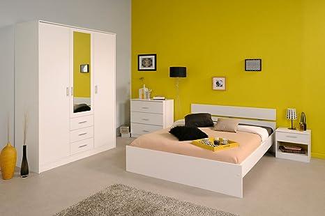 Schlafzimmerset Schlafzimmermöbel weiß 4-teilig Infena