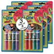 Mini Glitter Markers Washable - Bulk - Discount Wholesale set of 3 Packs (8 colors per pack)